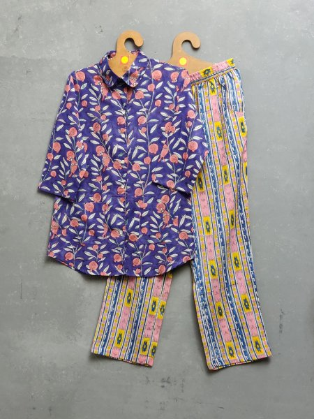 Cotton Handblock Print Night Suits WNS224