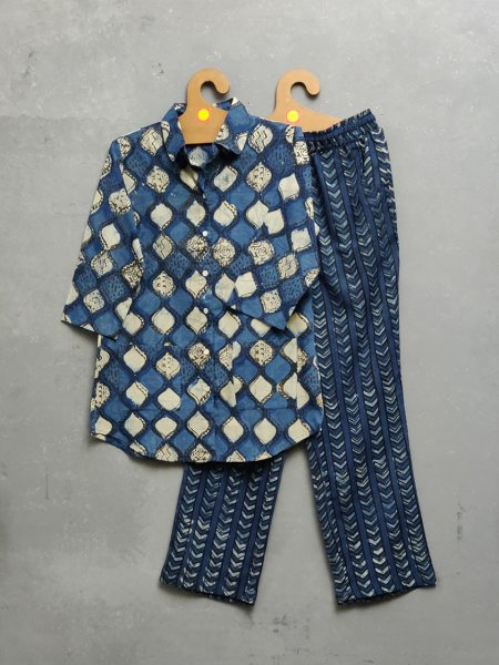 Cotton Handblock Print Night Suits WNS238