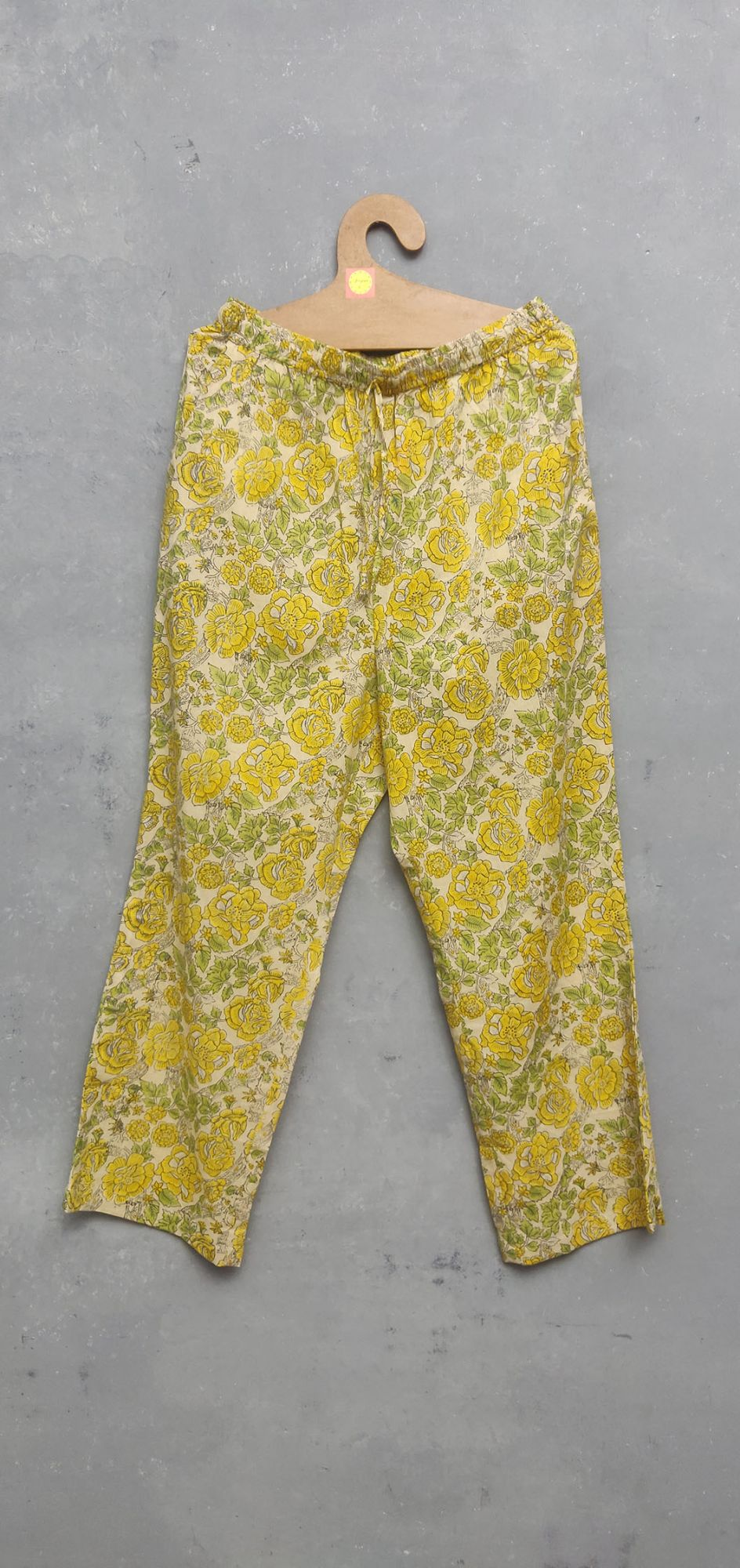 Yellow Floral Dye base Night Suit