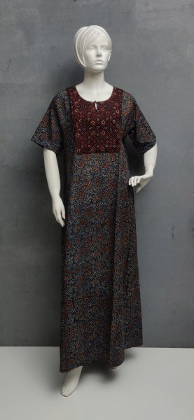 Ajrakh Handblock Printed Nighty WN208