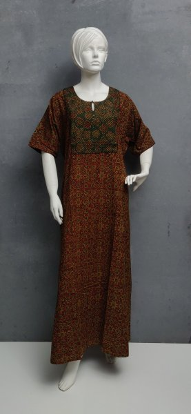 Ajrakh Handblock Printed Nighty WN213