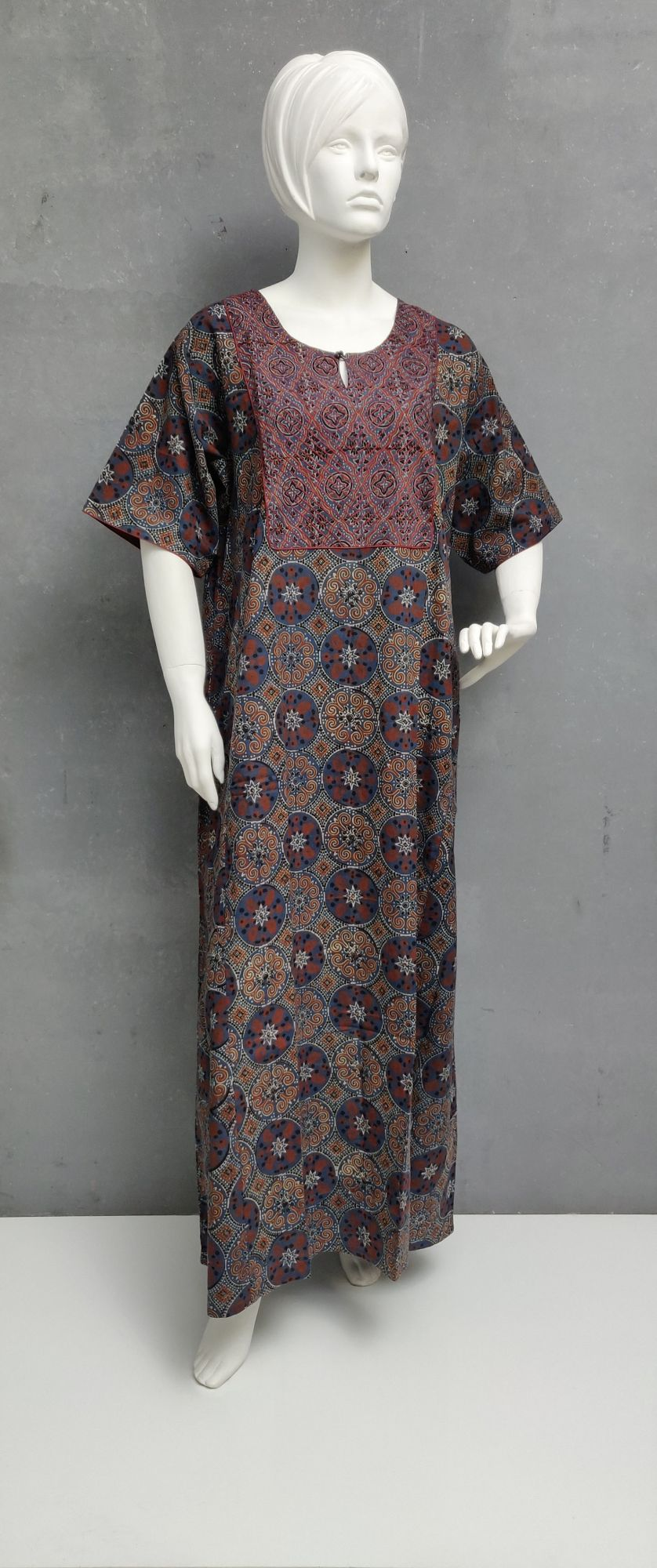 Ajrakh Handblock Printed Nighty WN236