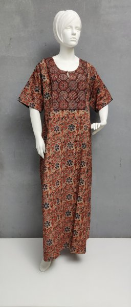 Ajrakh Handblock Printed Nighty WN240