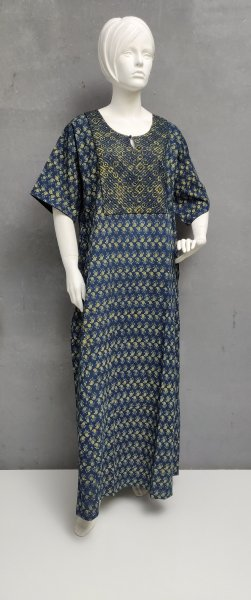 Ajrakh Handblock Printed Nighty WN256