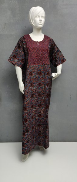 Ajrakh Handblock Printed Nighty WN267