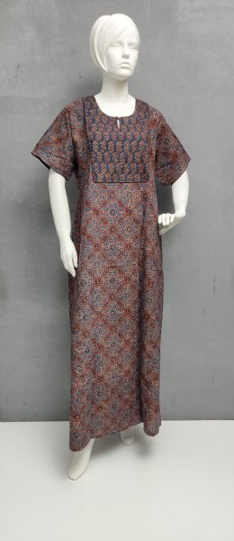 Ajrakh Handblock Printed Nighty WN277