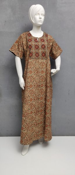 Ajrakh Handblock Printed Nighty WN284