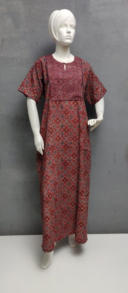Ajrakh Handblock Printed Nighty WN298