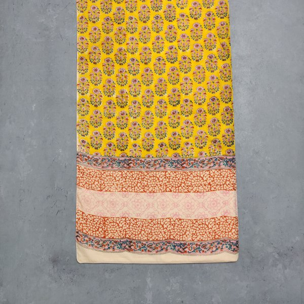 Handblock Printed Multi Colour Stole WST38