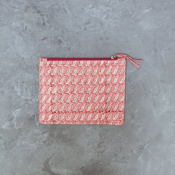 Pink Medium Canvas Pouch