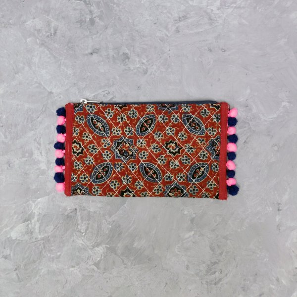 Printed Maroon Based Wallet