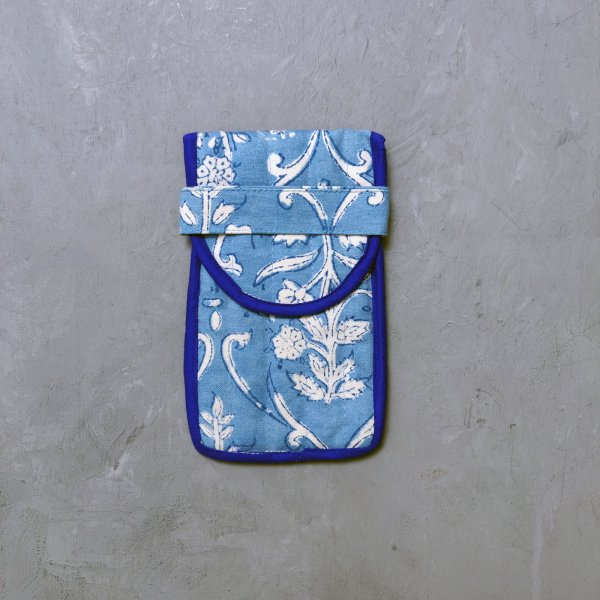 Sky Blue Spec and Mobile Pouch