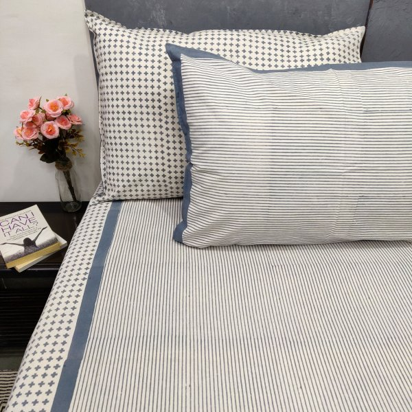 Smart Stripes Double Bedsheets