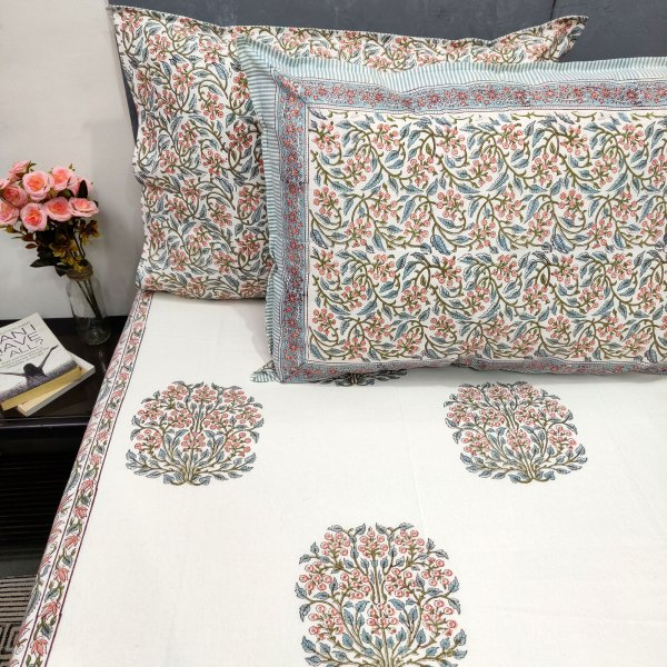 Summer Garden Inspired Double Bedsheet