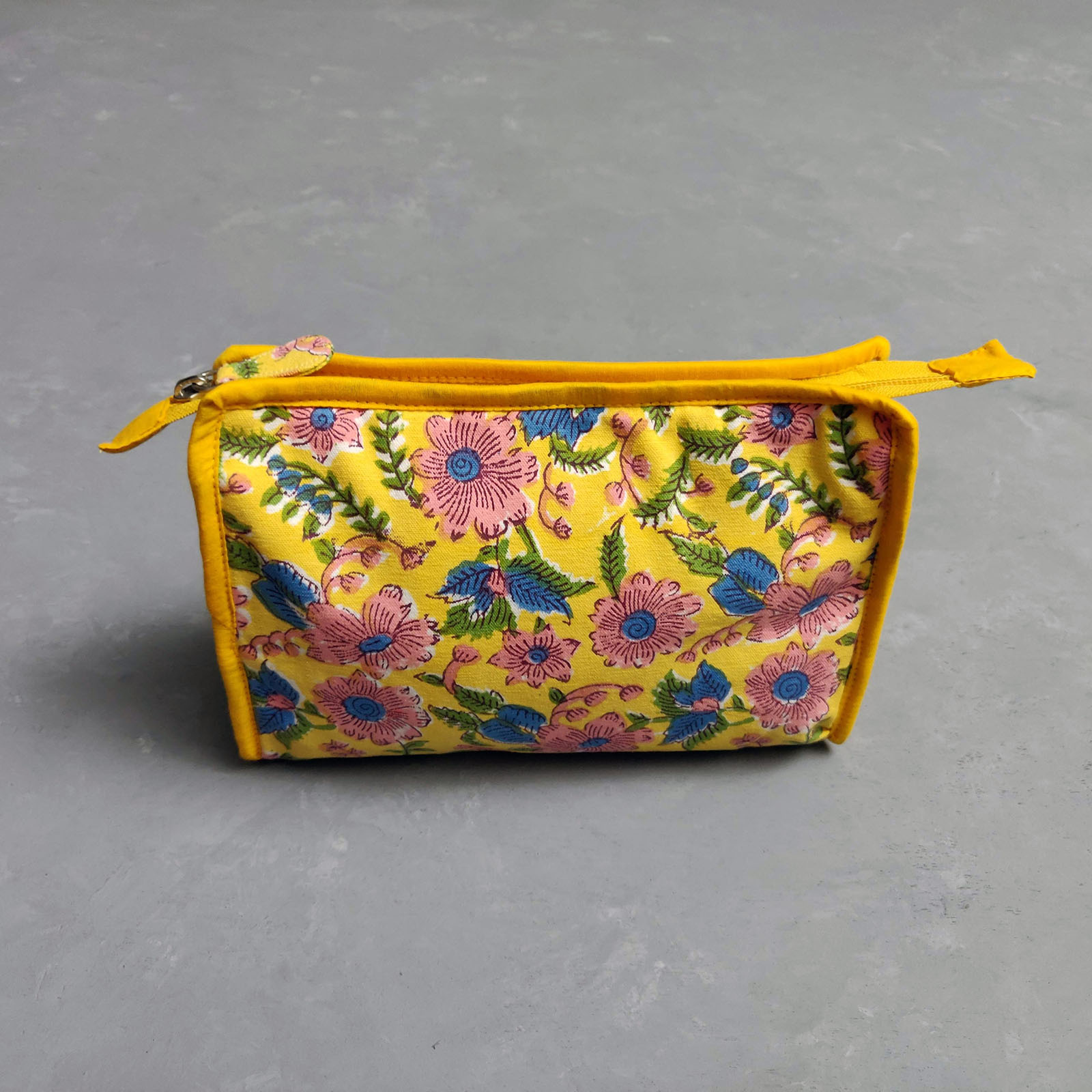 Yellow and Pink Large Toilet Pouch